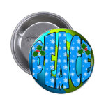 Peace on Earth Snowflakes 2 Inch Round Button