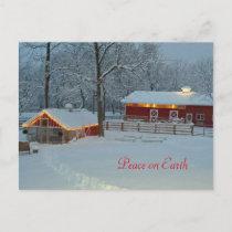 Peace On Earth Snowy Farm Holiday