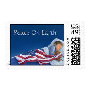 Peace On Earth Stamp at Zazzle