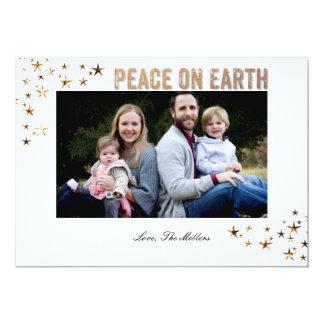 Peace on Earth Stars 5x7 Paper Invitation Card