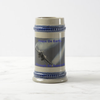 Peace On Earth...Through Air Superiority Beer Stein