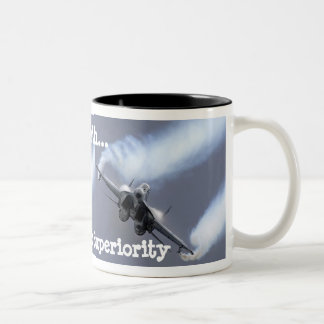 Peace On Earth...Through Air Superiority Two-Tone Coffee Mug