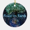 Peace on Earth Tree of Life Ceramic Ornament (<em>$16.85</em>)