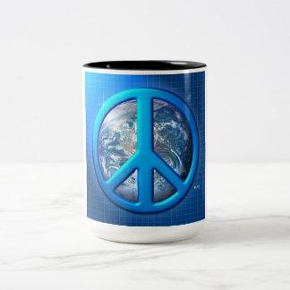 Peace On Earth Two-Tone Coffee Mug