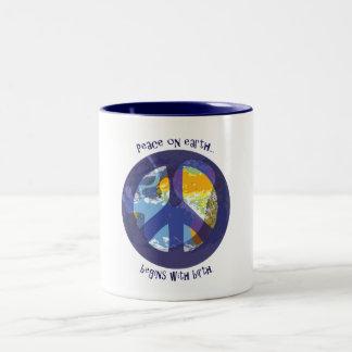 Peace on Earth... Two-Tone Coffee Mug