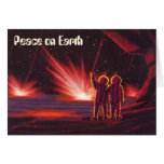 Peace on Earth, Vintage Christmas, Science Fiction Card