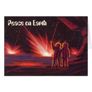 Peace on Earth, Vintage Christmas, Science Fiction Card