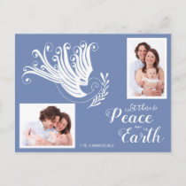 Peace on Earth White Dove Christmas Photo Holiday Postcard