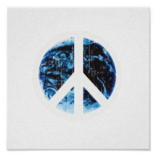 peace on earth white Faded.png Poster
