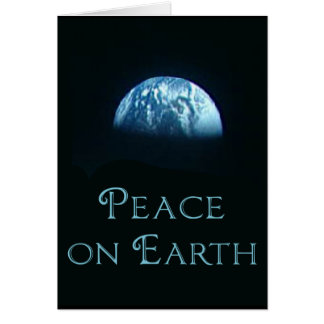 Peace on Earth with Image of Earth from Space Card