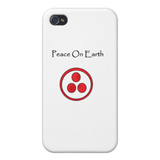 Peace on earth with international banner for peace case for iPhone 4