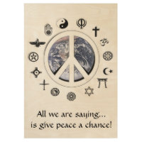 Peace on Earth Wood Poster