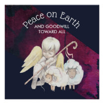 Peace on Eath and Goodwill Toward All Shepherd Poster