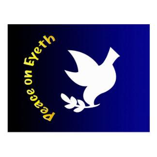 Peace On Eyeth button Postcard