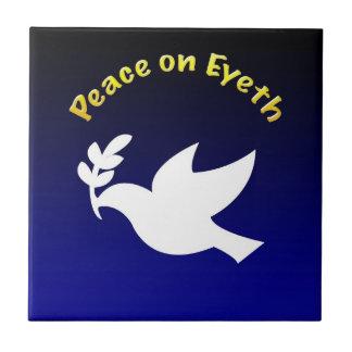 Peace on Eyeth Ceramic Tile