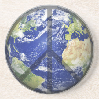 Peace on Our Planet Drink Coaster