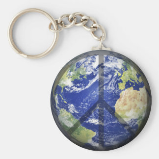 Peace on Our Planet Keychain
