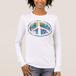 Peace on Pink Long Sleeve T-Shirt