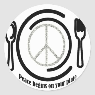 Peace on Plate Stickers