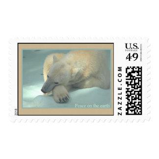 Peace on the earth - Polar Bear Postage Stamp