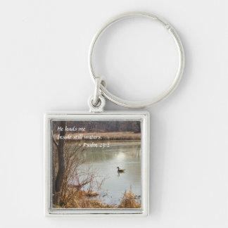 Peace on the Pond Keychain