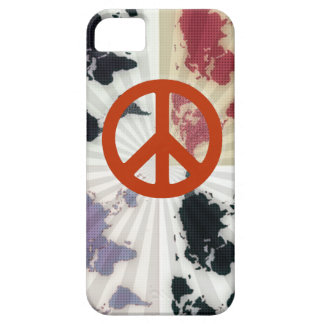 peace on world map iPhone 5 case