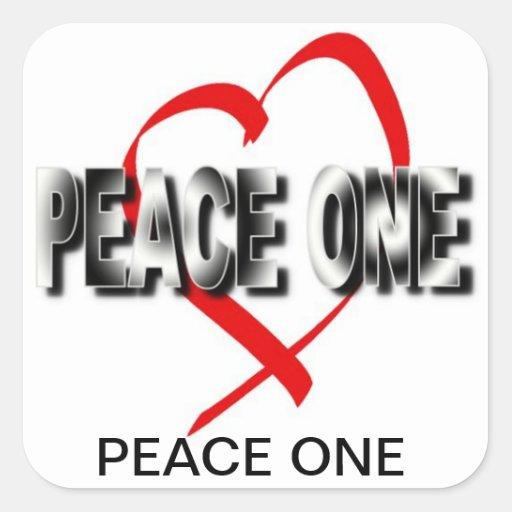 PEACE ONE SQUARE STICKER