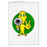 Peace or Die Alien Greeting Card
