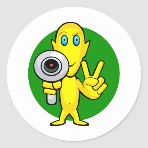 Peace or Die Alien Round Sticker