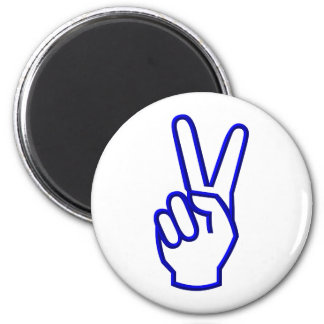 Peace or V for Victory 2 Inch Round Magnet