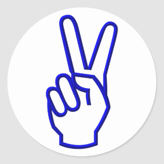 Peace or V for Victory Classic Round Sticker