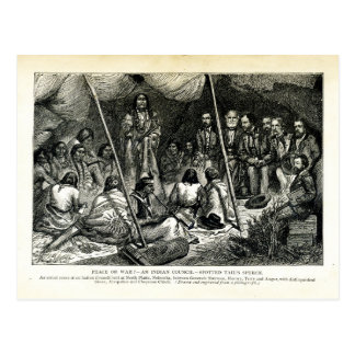 Peace or War - Indian Council held at North Platte Postcard