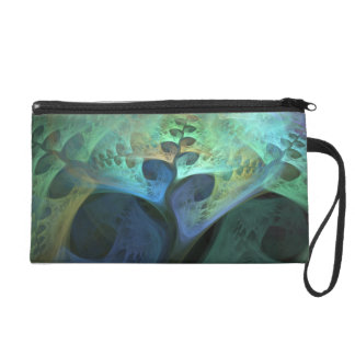 """Peace"" Organic Abstract Fractal Wristlet Purse"