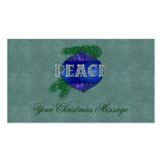 Peace Ornament Business Card