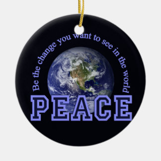 Peace ornament, customize ceramic ornament