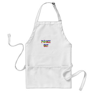 PEACE OUT ADULT APRON