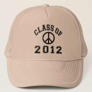 Peace Out Black Trucker Hat