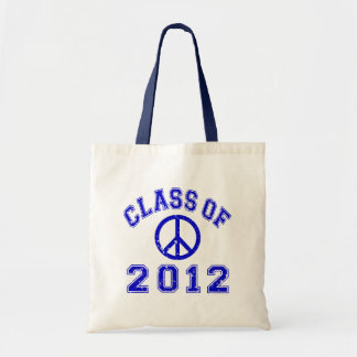 Peace Out Blue Budget Tote Bag