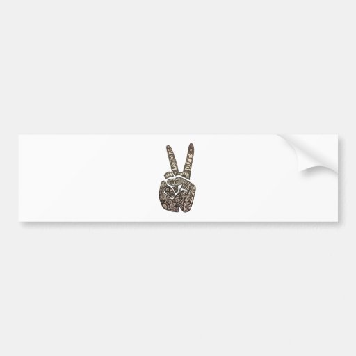 """Peace Out"" Design Bumper Stickers"
