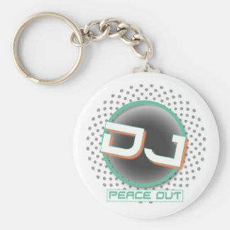 Peace out DJ Key chain