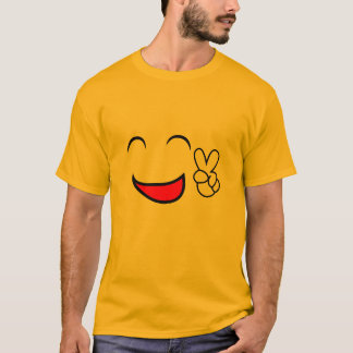 Peace Out Emoticon Group Costume T-Shirt