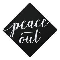 Peace Out Graduation Cap Topper