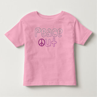 Peace Out Letters T-shirt