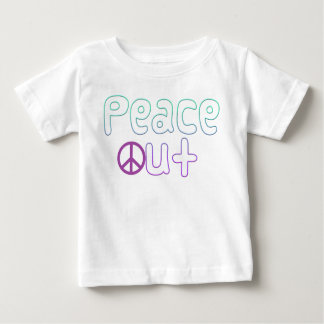 Peace Out Letters Tee Shirts