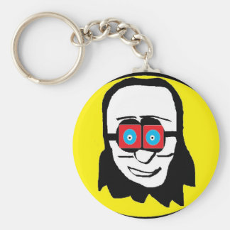 Peace Out Man Basic Round Button Keychain