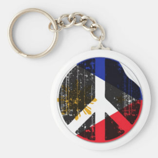 Peace Out Philippines Basic Round Button Keychain