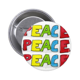 Peace Out Pinback Button