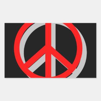 Peace Out Rectangular Sticker