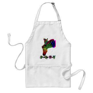 peace out zebra adult apron