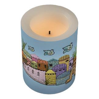 Peace over Jerusalem Flameless Candle